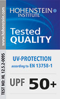 tested quality - UV-protection according to EN 13758-1
